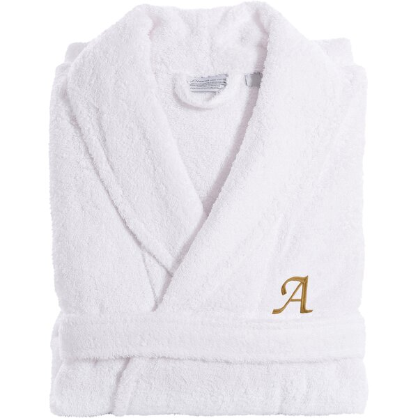 Bernardini 100% Turkish Cotton Bathrobe by Three Posts